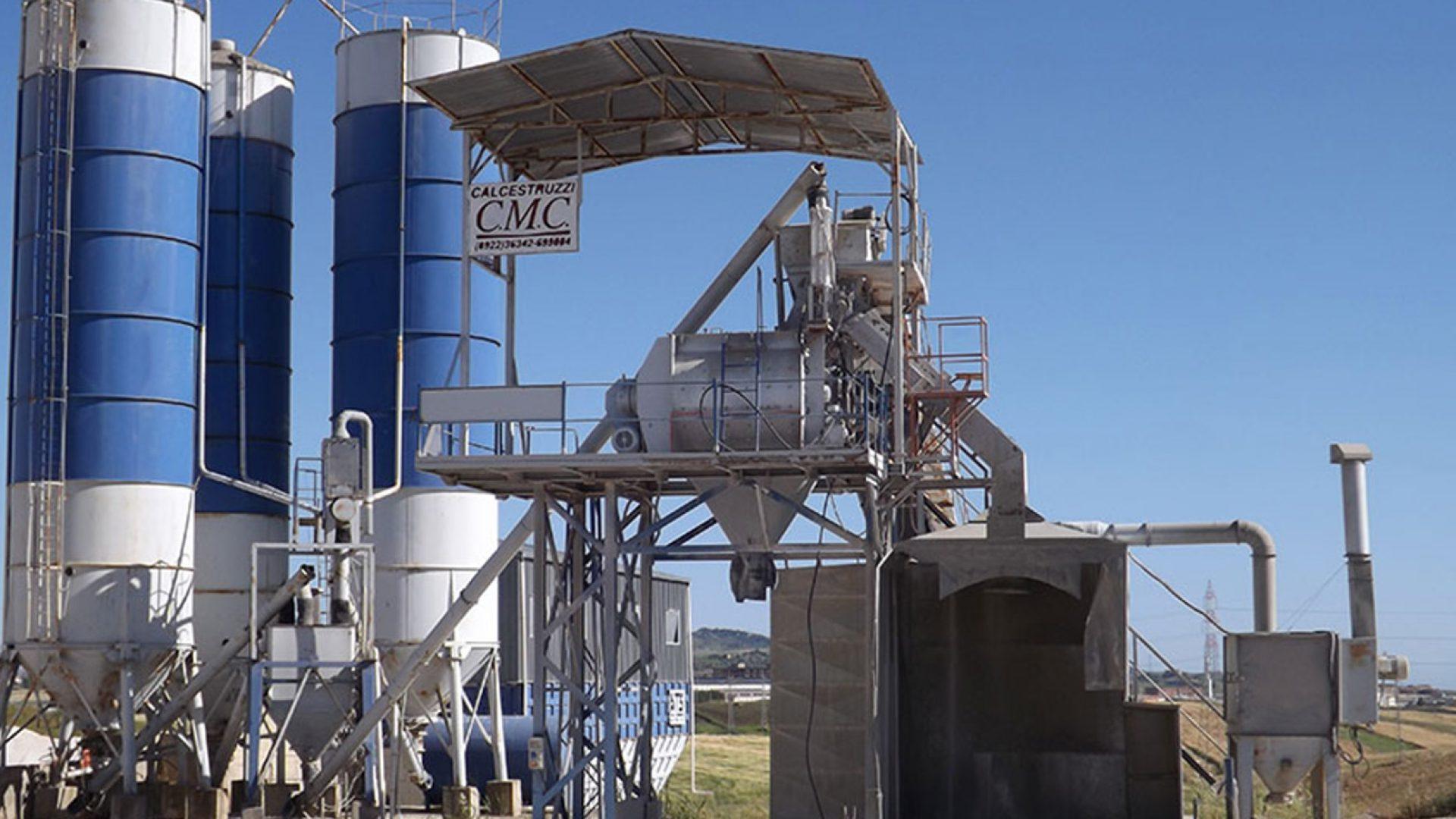 Calcestruzzo Stampato Sicilia : Impianto di calcestruzzo cmc cipolla aragona agrigento