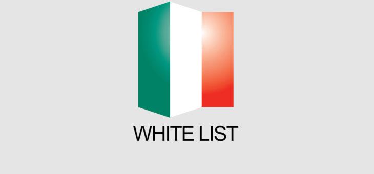 Impresa non soggetta ad infiltrazione mafiosa White list 2018