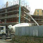 Lavori di costruzione palazzo via Crispi - Agrigento.