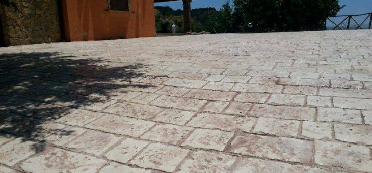 Realizzazione di un piazzale in calcestruzzo stampato Aragona