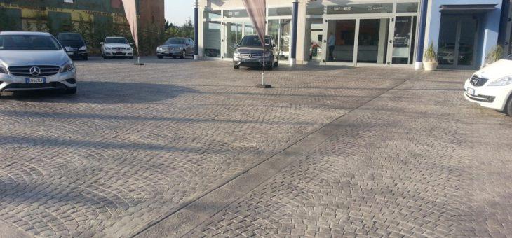 Realizzazione pavimentazione in calcestruzzo stampato zona industriale Aragona – Favara