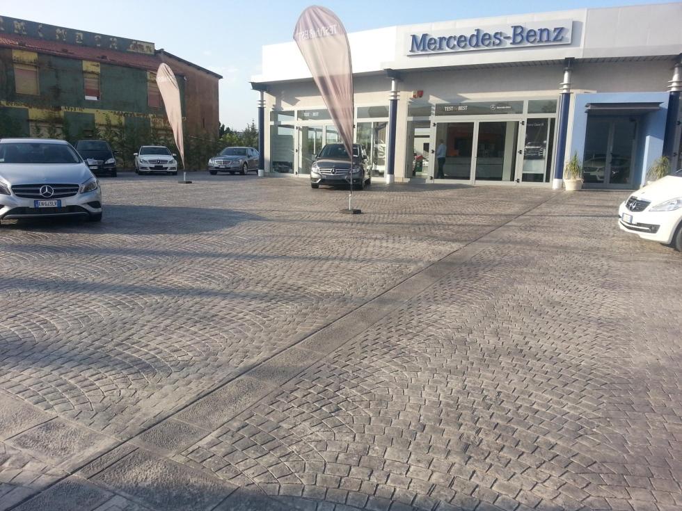 Realizzazione pavimentazione in calcestruzzo stampato zona industriale Aragona - Favara