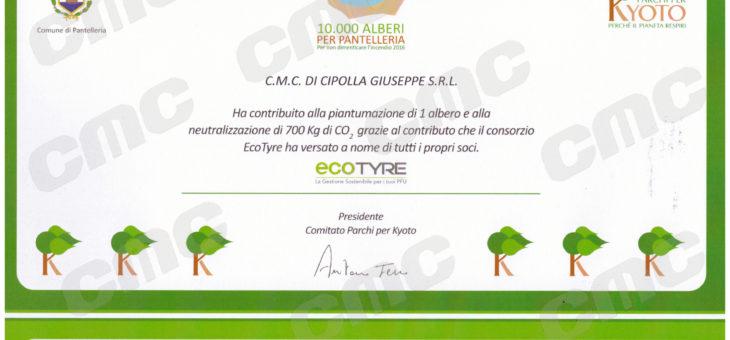 Riconoscimento per il progetto 10.000 alberi per Pantelleria – CMC Cipolla